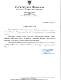 Uniwersytet Medyczny imienia Piastów Śląskich weWrocławiu – usługi doradcze – 10.05.2019 r.