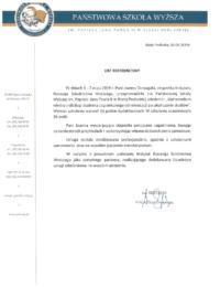 Państwowa Szkoła Wyższa im.Papieża Jana Pawła II – usługa szkoleniowa-06.06.2019