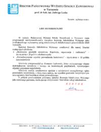 Państwowa Wyższa Szkoła Zawodowa wTarnowie – usługa szkoleniowa – 25.02.2019