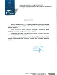 Politechnika Częstochowska – usługa szkoleniowa – 24.10.2018