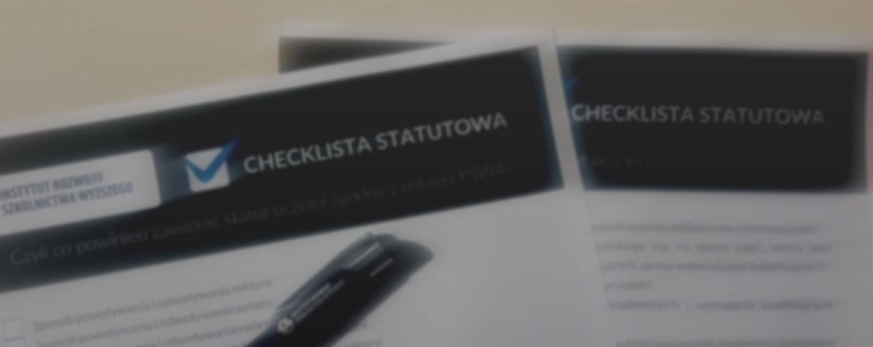 Statut uczelni wświetle Ustawy 2.0 / checklista statutowa dopobrania