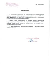 Uniwersytet Marii Curie – Skłodowskiej wLublinie – usługa szkoleniowa – 30.03.2018