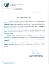 Uniwersytet Ekonomiczny weWrocławiu – usługa szkoleniowa – 20.04.2016