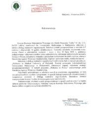 Uniwersytet Medyczny wBiałymstoku – usługa szkoleniowa – 14.06.2019