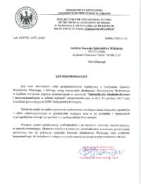 Uniwersytet Medyczny wLublinie – usługa szkoleniowa – 22.11.2018