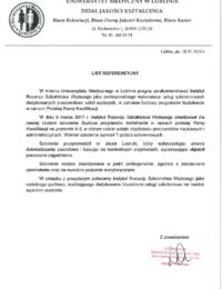 Uniwersytet Medyczny wLublinie – usługa szkoleniowa – 18.02.2019