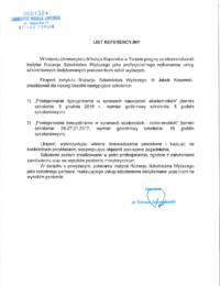 Uniwersytet Mikołaja Kopernika wToruniu – usługa szkoleniowa – 27.01.2017r.