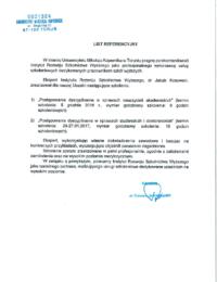 Uniwersytet Mikołaja Kopernika wToruniu – usługa szkoleniowa – 27.01.2017
