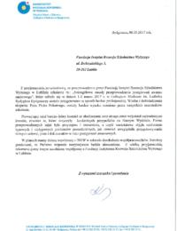Uniwersytet Mikołaja Kopernika wToruniu – usługa szkoleniowa – 02.03.2017