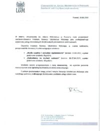 Uniwersytet im.Adama Mickiewicza wPoznaniu – usługa szkoleniowa – 19.03.2019