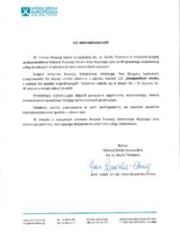 Wyższa Szkoła Europejska im.ks.Józefa Tischnera – usługi doradcze – 24-25.01.2019 r.