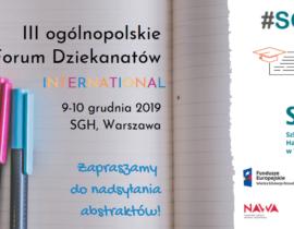 III ogólnopolskie Forum Dziekanatów – International!