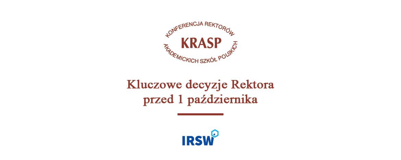 Bezpieczny rok akademicki 2020/2021 – wytyczne KRASP opracowane przezIRSW