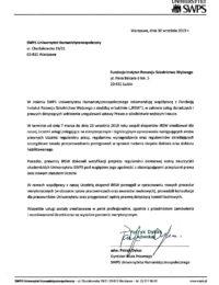 SWPS Uniwersytet Humanistycznospołeczny-usługa doradcza-30.09.2019