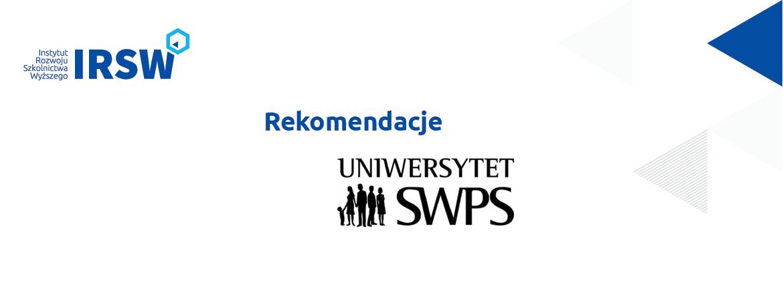 Referencje odSWPS – ocena formalna wniosków opozwolenie nautworzenie studiów
