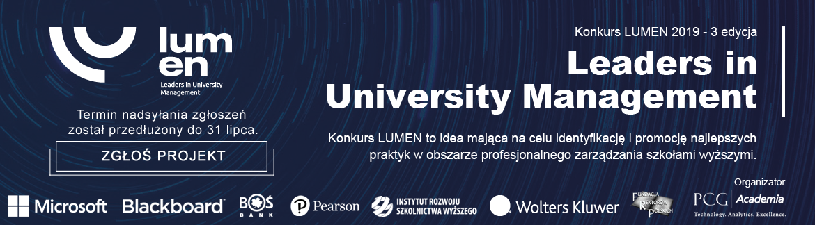 Konkurs LUMEN 2019 – Leaders in University Management